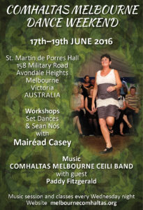 Melbourne 2016 Dance weekend poster